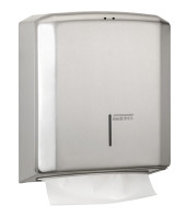 Paper towel dispenser stainless steel satin