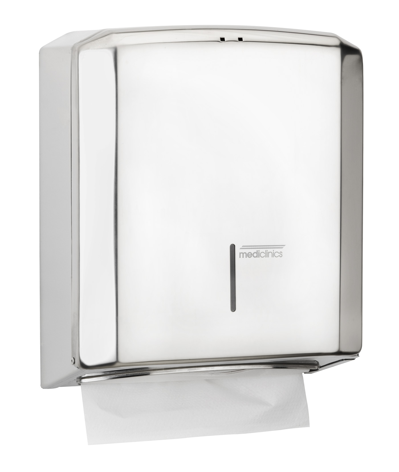 Paper Towel Dispenser Stainless Bright Mediclinics